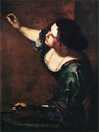Artemisia Gentileschi - Autoportrait en allégorie de la peinture (1638-1639) Royal collection, Windsor