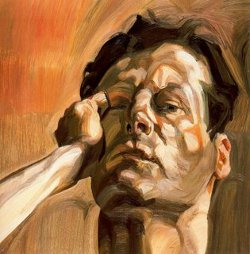 Man's head - autoportrait (1963) - Lucian Freud