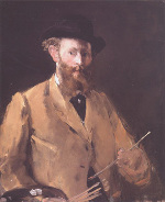 Autoportrait à la palette (1879) Collection privée