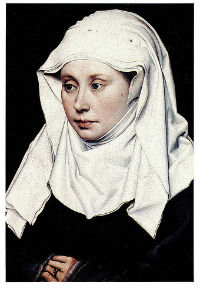 Robert Campin - Portrait d'une dame - vers 1430 - Londres, National Gallery