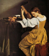 Orazio Gentileschi - Joueuse de luth (v. 1626) Londres, National Gallery of Art