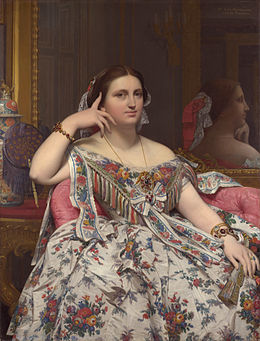 "Ingres ""Madame Moitessier"" (1856) Londres, National Gallery"