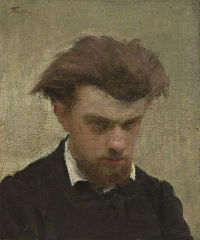Henri Fantin-Latour - Autoportrait (1861) Washington, National Gallery of art