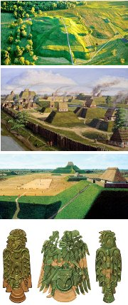 Villages et art de Cahokia (Illinois)