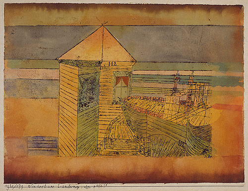 Paul Klee - Accostage miraculeux ou 112 ! (1920)
