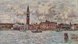 Eugène Boudin - Place Saint-Marc à Venise (1895) - Collection Durand-Ruel