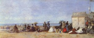 Eugène Boudin - Plage à Trouville (1870-1874) - Londres, National Gallery