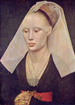 "Rogier van der Weyden ""Portrait de dame"" (1430) Washington, National gallery of art"