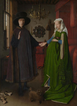 "Jan van Eyck ""Portrait des époux Arnolfini"" (1434) Londres, National Gallery"